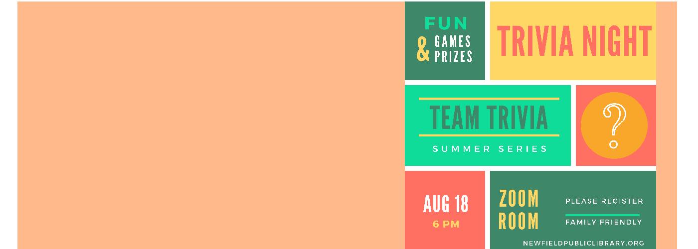 Team Trivia Tuesday Aug 18